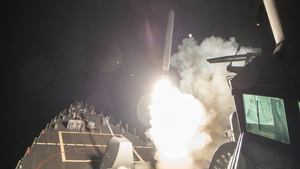 The United States fired 59 Tomahawk cruise missiles from warships in the Mediterranean at the Shayrat airfield