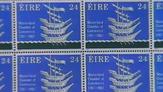 24 Pence Waterford Commemorative Stamp (1987)