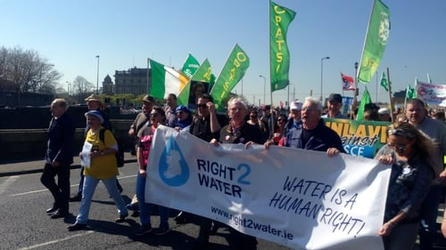Thousands of people took part in the protest against water charges