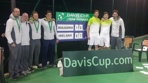 The victorious Irish team