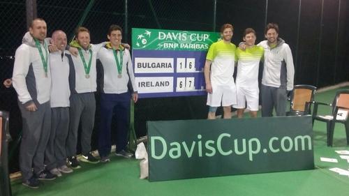 The victorious Irish team