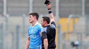 The black card is becoming a familiar sight for Diarmuid Connolly