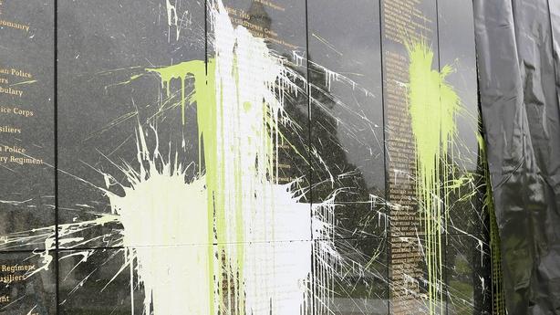 Glasnevin wall vandalised