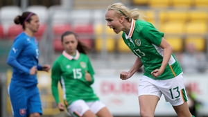 Stephanie Roche celebrates her goal