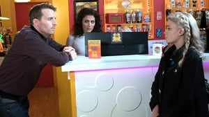 Chris Harper as Nathan Curtis with Lucy Fallon (right) as Bethany Platt