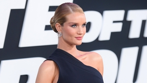 The beautifully glowing Rosie Huntington-Whiteley