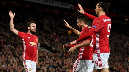 Juan Mata is congratulated after a recent goal against FK Rostov