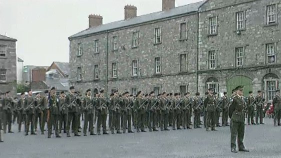 Army Departs Collins Barracks Dublin