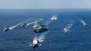 US war ships in the Korean peninsula