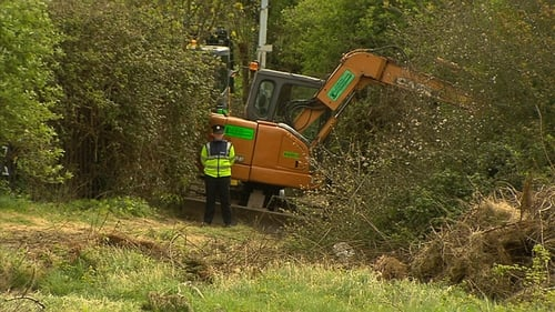 Gardaí began digging in the area on Saturday 1 April on foot of specific information