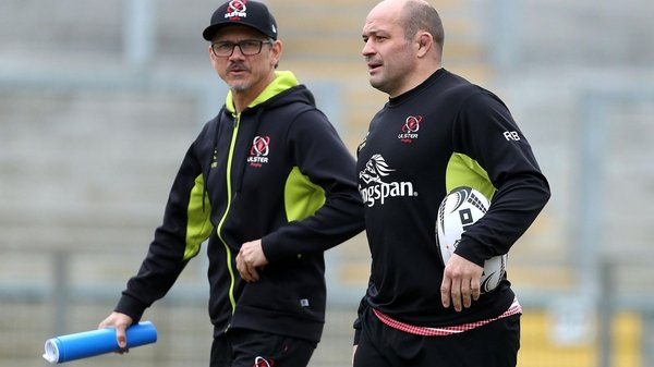 Ulster director of rugby Les Kiss (L) and Rory Best