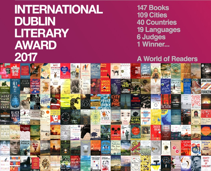 Shortlist for 2017 International Dublin Literary Award
