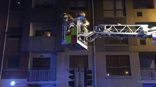 Blaze broke out in a communal area of the block off Cookstown Way at around 1.30am