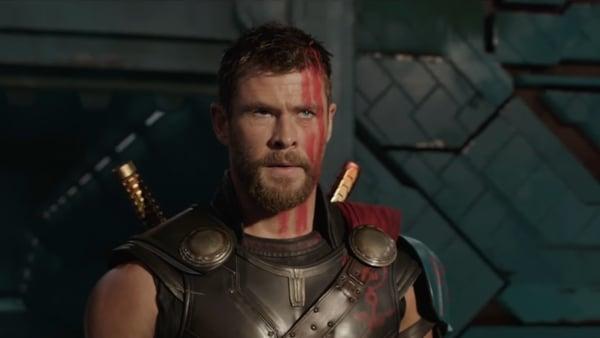 Chris Hemsworth in the trailer for Thor: Ragnarok
