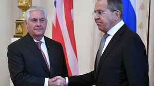 US Secretary of State Rex Tillerson (L) and Russian Foreign Minister Sergey Lavrov met in Moscow