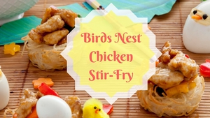 Try Birds Nest Chicken Stir-Fry for Easter