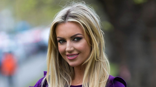 Rosanna Davison helped launch the Cystic Fibrosis charity campaign 2017