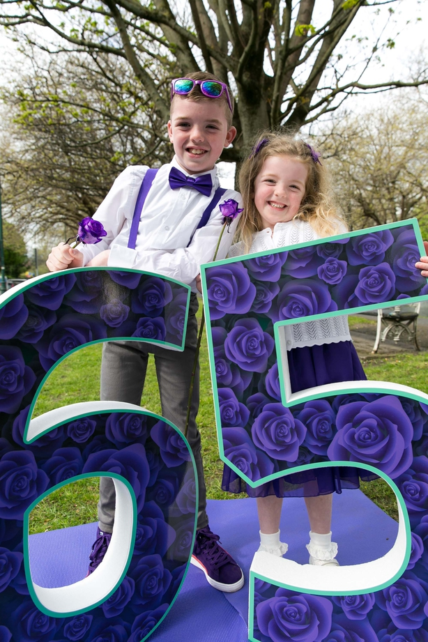 Dermot Crombie (age 9), who has cystic fibrosis, and his sister Hannah (age 5)