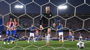 Kasper Schmeichel was unhappy with the penalty decision that handed Atletico a 1-0 win