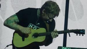 Ed Sheeran rocking the 3Arena last night (Pic: Martin Cox)