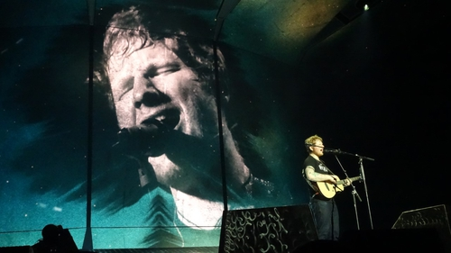 Ed Sheeran in Dublin. Images courtesy of Martin Cox.