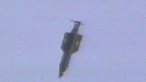 A GBU-43 bomb being dropped in a US test in 2003