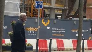 Morgan Freeman in Belfast on Thursday Photo: Maldron Hotel