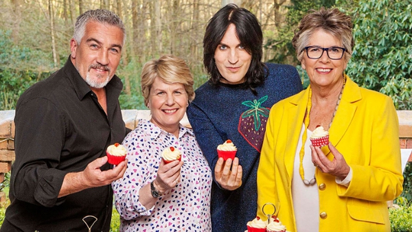 Sandi Toksvig (second left) with Great British Bake Off friends Paul Hollywood (left), Noel Fielding and Prue Leith