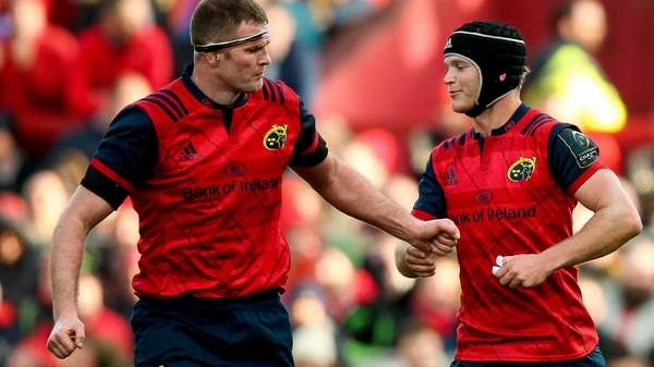 Munster's Donnacha Ryan (L) starts, but Tyler Bleyendaal is relegated to the bench