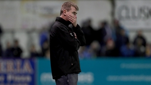 Stephen Kenny watches on as Dundalk slump to defeat against Bray Wanderers