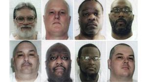 Top from left: Bruce Earl Ward, Don W Davis Ledell Lee, Stacey Johnson. Bottom from left: Jack Jones Jr, Marcel Williams, Kenneth Williams, Jason McGehee