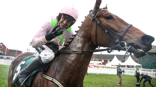 Ruby Walsh and Let's Dance after their Cheltenham victory
