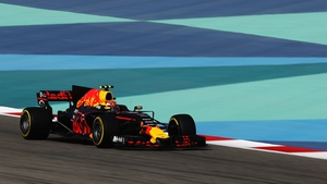 Max Verstappen at the Bahrain International Circuit earlier today