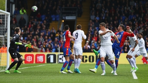 Robert Huth heads Leicester in front