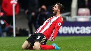 Fabio Borini celebrates his leveller for Sunderland