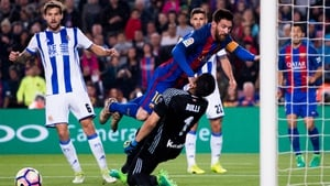 Lionel Messi scored twice against Real Sociedad