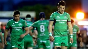 A dejected Tiernan O'Halloran leaves the field last night