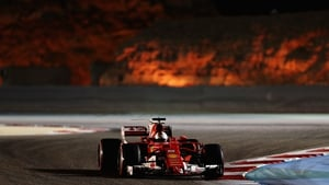 Sebastian Vettel on his way to victory