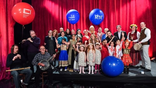 Performers at last month's launch of Cruinniúna Cásca