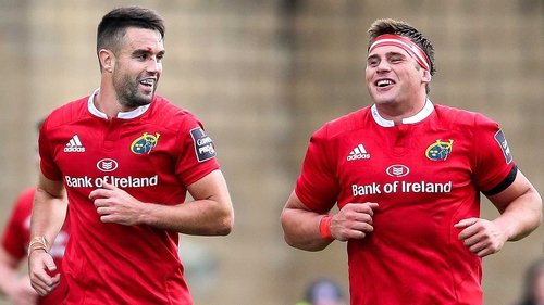 Conor Murray, left, has been ruled out, but CJ Stander has been passed fit