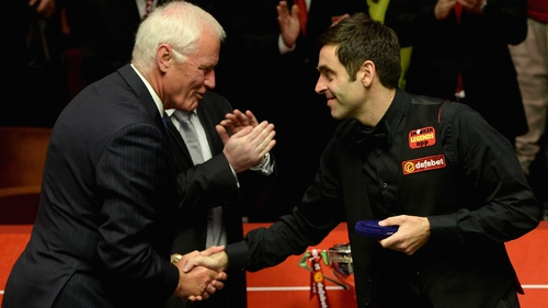 Barry Hearn (L) and Ronnie O'Sullivan in happier times