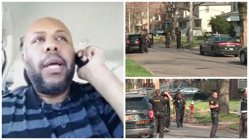 Officers are investigating a report that suspect Steve Stephens broadcast the shooting on Facebook