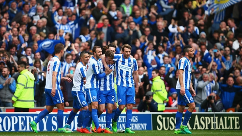 Brighton and Hove Albion secure promotion into Premier League