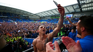 Anthony Knockaert takes a celebration selfie