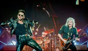 Queen and Adam Lambert - Rocking and gurning at the 3Arena on November 25