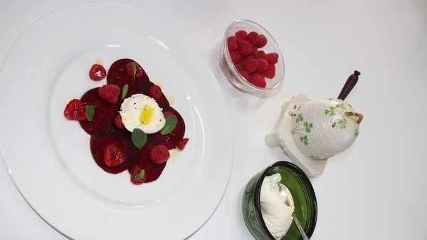 Rory O'Connell's Beetroot & Raspberry Salad with Labneh
