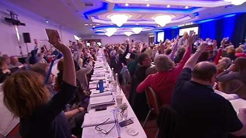 TUI delegates vote at union's conference in Cork