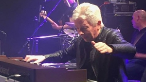 Patrick Fitzpatrick onstage with Aslan Photo: Aslan, Facebook