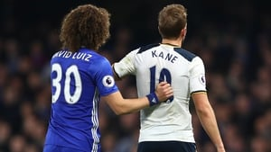 Chelsea's David Luiz and Spurs striker Harry Kane were both selected in the PFA Team of the Year