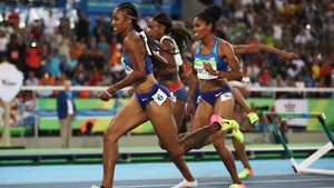 Brianna Rollins in action at the Rio 2016 Olympic Games